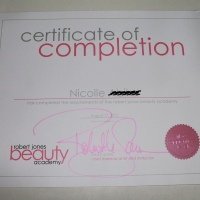 My first makeup certificate
