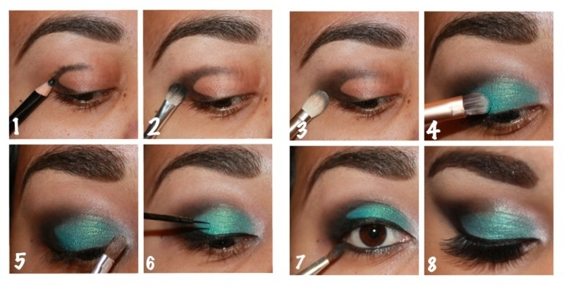 Step By Step Turquoise Smokey Eye Nicoles Beauty Blog
