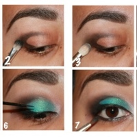 Step-by-step | Turquoise Smokey Eye