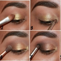 Step-by-step: Holiday look #1