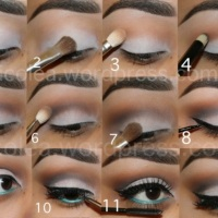 Step-by-step: Neutral cut crease with a pop of color