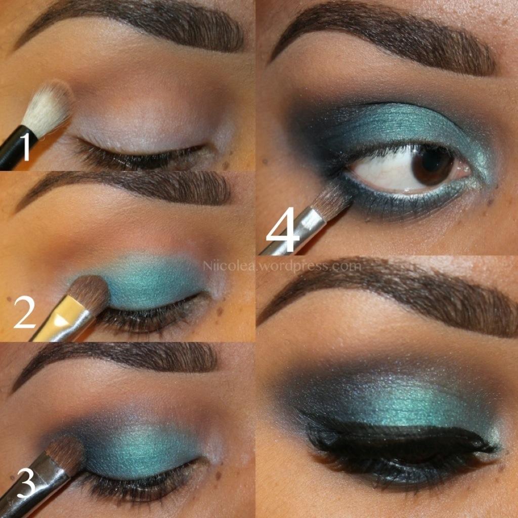 Step By Step Teal Smokey Eye Nicoles Beauty Blog