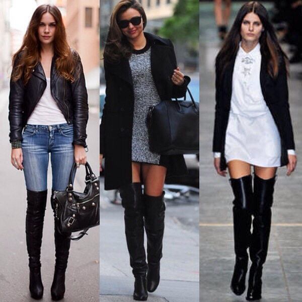 Fashion Over The Knee Boots - Boot Hto
