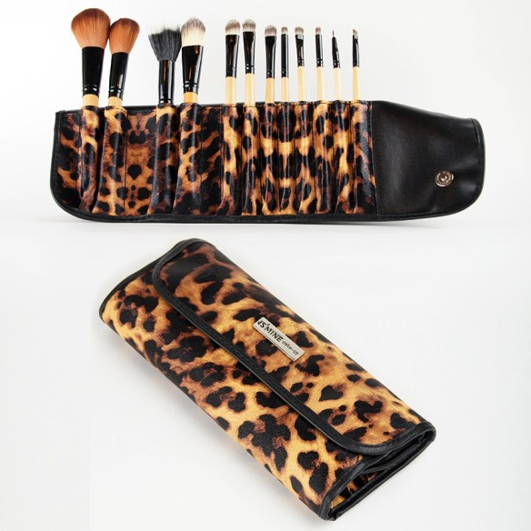 sminkborstar-set-jungle-beat-makeup-kosmetiska-set-12-borstar