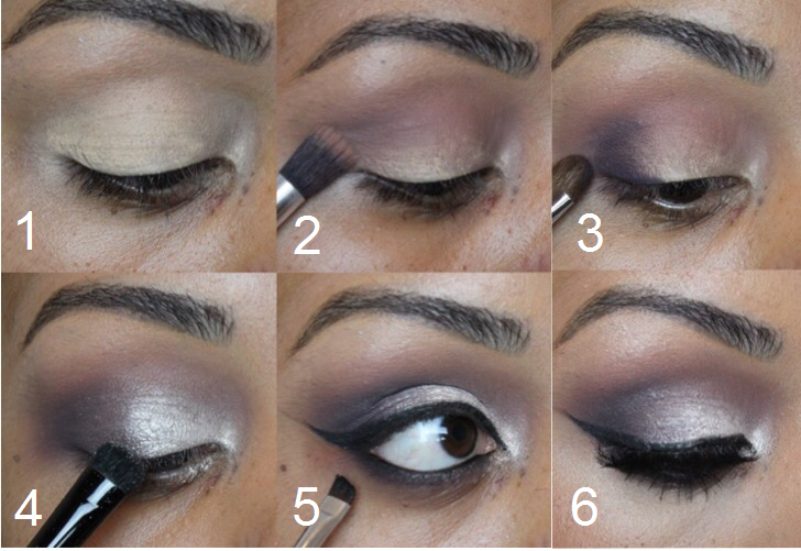 Makeup Step By Step Purple Silver Smokey Eye Nicoles Beauty Blog