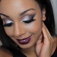 Makeup   Step-by-step Purple & Silver Smokey Eye