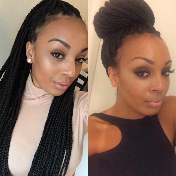 Hair Box Braid Styling Inspiration Nicole S Beauty Blog